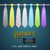 Fundo do dia de pai com laço