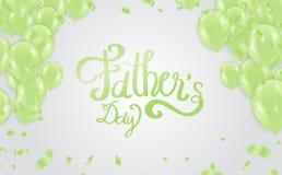 fundo do dia de pai, tipografia feliz do dia para o cartão, ilustração stock