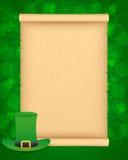 Fundo do dia de St Patrick com pergaminho Fotos de Stock