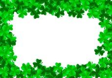 Fundo do dia de St Patrick com trevo de trefoil ilustração royalty free