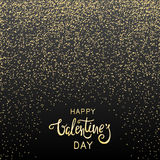 Fundo do dia de Valentim com confetes dourados Foto de Stock Royalty Free