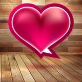 Fundo do dia de Valentim com coração. EPS 10 Fotografia de Stock
