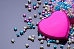 Fundo do dia de Valentim com corações. Fotografia de Stock