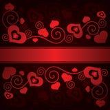 Fundo do dia de Valentim com corações Imagem de Stock Royalty Free