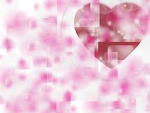 Fundo do dia de Valentim com corações Imagens de Stock Royalty Free