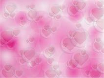 Fundo do dia de Valentim com corações Imagens de Stock