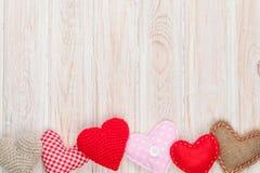 Fundo do dia de Valentim com corações do brinquedo Foto de Stock Royalty Free