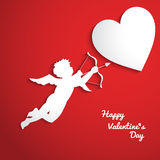 Fundo do dia de Valentim com cupido Fotografia de Stock