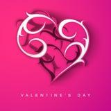 Fundo do dia de Valentim de Saint, cartão ou sagacidade do cartão de presente Foto de Stock