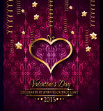 Fundo do dia de Valentim para convites do jantar Fotos de Stock Royalty Free