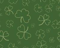 Fundo do dia do ` s de St Patrick com o trevo de três folhas ilustração do vetor