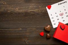 Fundo do dia do ` s do Valentim com espaço da cópia Coração verde estilizado da ilustração do vetor Foto de Stock Royalty Free