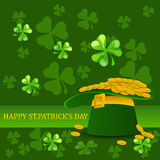 Fundo do dia do St Patrick Fotos de Stock