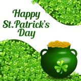 Fundo do dia do St Patrick Fotografia de Stock Royalty Free
