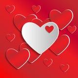 Fundo do dia do Valentim com corações Imagens de Stock Royalty Free
