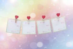Fundo do dia do Valentim com corações Fotos de Stock Royalty Free