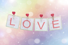Fundo do dia do Valentim com corações Fotos de Stock