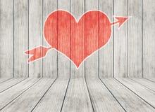 Fundo do dia do Valentim com corações Imagens de Stock