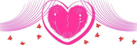 Fundo do dia do Valentim/encabeçamento do Web Imagem de Stock Royalty Free
