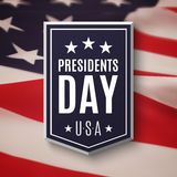Fundo do dia dos presidentes ilustração stock