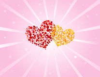Fundo do dia dos Valentim Imagem de Stock Royalty Free