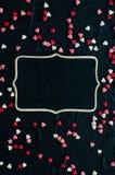 Fundo do dia dos Valentim com corações Imagem de Stock