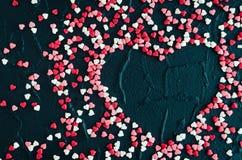 Fundo do dia dos Valentim com corações Fotos de Stock