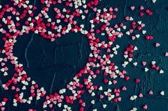 Fundo do dia dos Valentim com corações Fotografia de Stock