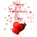 Fundo do dia dos Valentim do coração ilustração stock
