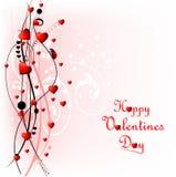 Fundo do dia dos Valentim do coração com ladybug ilustração do vetor