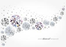 Fundo do diamante Imagens de Stock Royalty Free