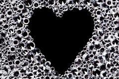 Fundo do diamante com espaço dado forma coração. Fotografia de Stock Royalty Free