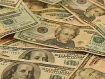 Fundo do dinheiro - dólares. Imagem de Stock