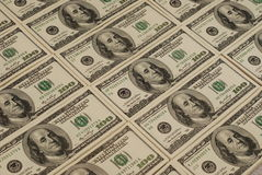 Fundo do dinheiro da cédula do dólar Imagens de Stock Royalty Free