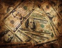 Fundo do dinheiro de Grunge Imagens de Stock Royalty Free