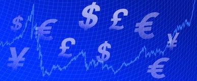 Fundo do dinheiro do gráfico Imagens de Stock Royalty Free