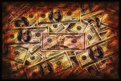 Fundo do dinheiro do Grunge fotos de stock