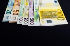 Fundo do dinheiro Euro e dólar Foto de Stock Royalty Free