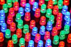 Fundo do diodo emissor de luz Fotografia de Stock