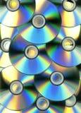 Fundo do disco óptico Fotografia de Stock