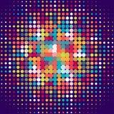 Fundo do disco com os pontos de intervalo mínimo no estilo retro Imagens de Stock Royalty Free