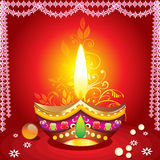 Fundo do diwali de Absrtract com deepak Foto de Stock