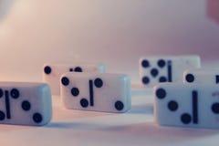 Fundo do dominó Imagens de Stock
