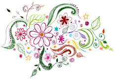 Fundo do Doodle Foto de Stock
