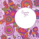 Fundo do doodle da flor do vintage Fotografia de Stock