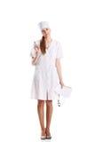 Fundo do doutor Com Estetoscópio Sobre Branco Fotografia de Stock Royalty Free
