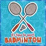 Fundo do esboço do badminton Fotos de Stock Royalty Free