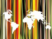 Fundo do esboço do mapa de mundo Foto de Stock Royalty Free