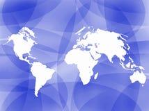 Fundo do esboço do mapa de mundo Imagens de Stock Royalty Free