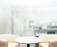 Fundo do escritório do tampo da mesa e do borrão Imagem de Stock
